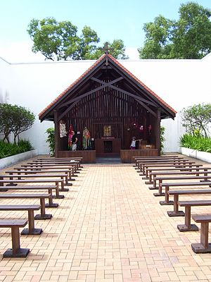 Changi Museum - Replica Chapel built in Singapore in 1988 and relocated to present site in 2001