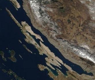 Pag (island) - Satellite image of Pag
