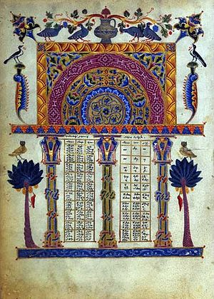 Bible translations into Armenian - Illustrated Armenian Bible from 1256