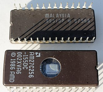 BIOS - A pair of AMD BIOS chips for a Dell 310 computer from the late 1980s