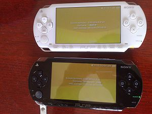 PlayStation Portable homebrew - Two PSP-1002s running on 5.50 GEN-B.