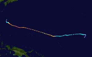 Typhoon Paka - Image: Paka 1997 track