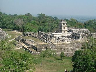 History of North America - The Mayan ruins of Palenque, Mexico.