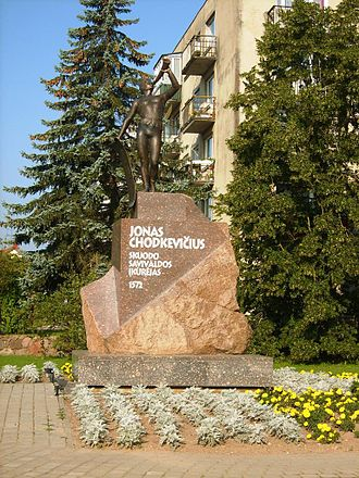 Skuodas - Sculpture for Jonas Chodkevičius (Jan Hieronimowicz Chodkiewicz)