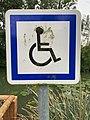 Panneau CE14 Emplacement Handicapés Pêche Parc Rives Menthon St Cyr Menthon 1.jpg