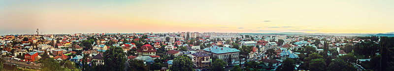 Panorama of Targoviste City.JPG