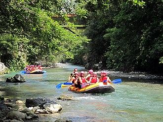 Lao River, Italy - Rafting on the Lao near Papasidero