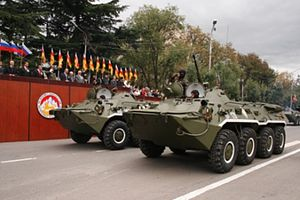 Military of South Ossetia - Armoured vehicles during the September, 2009 parade in commemoration of the declaration of independence in Tskhinvali