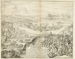 Siege of Caudebec - Image: Parama Retreat at Caudebec 1592