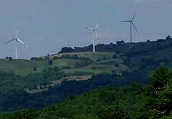 Wind turbines near Scansano