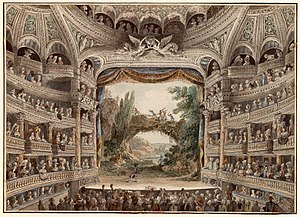 Comédie-Française - Interior view, late 18th century