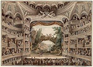 La salle du théâtre au XVIIIe siècle