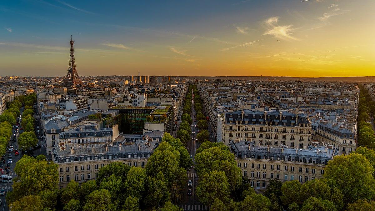Paris from the Arc de Triomphe, 17 October 2019.jpg