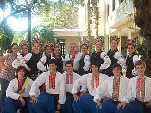 Ukrainian Argentines - Oberá's Ukrainian Barvinok ballet cast.