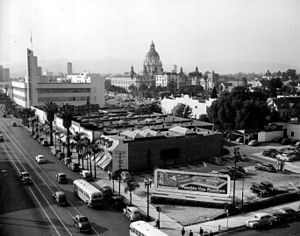 History of Pasadena, California - Downtown Pasadena in 1945.