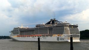 MSC Preziosa - MSC Preziosa on the Elbe in June 2017