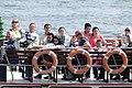 Passengers on Passing Ship - Bosporus Straits - Istanbul - Turkey (5723101486).jpg