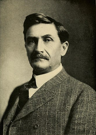 Pat Garrett - Portrait of Pat Garrett from The Story of the Outlaws