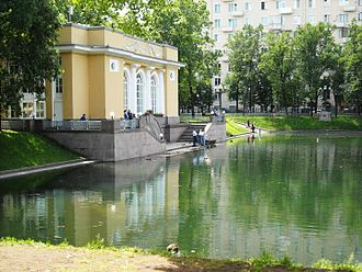 Patriarch Ponds - Patriarch Ponds, Skating Ring Building in Spring