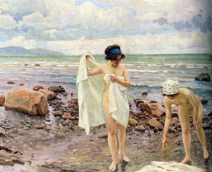 File:Paul Fischer Badende Kvinder (The Bathers).jpg