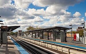 Paulina station - Platforms at Paulina station