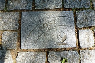 Peter Post - Stone dedicated to Post on Allée Charles Crupelandt in Roubaix