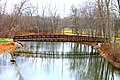 Pedestrian Bridge over the Huron River, Lower Huron Metropark, Van Buren Township, Michigan - panoramio.jpg