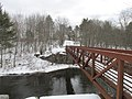 Pedestrian bridge and abutment of the County Farm Bridge, Dover NH.jpg