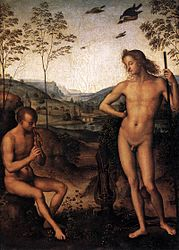 Pietro Perugino: Apollo and Marsyas