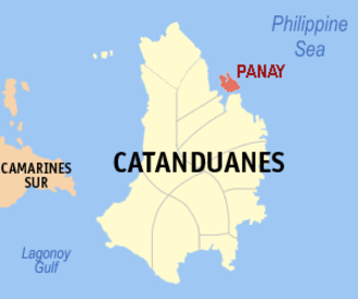 Panay (Catanduanes) - Location within Catanduanes province