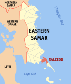 Map of Northern Samar with Salcedo highlighted