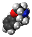 Phenmetrazine molecule spacefill.png