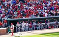 Philadelphia Phillies fans in Baltimore (7356385884).jpg