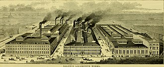 Baldwin Locomotive Works - Baldwin Locomotive Works in 1875