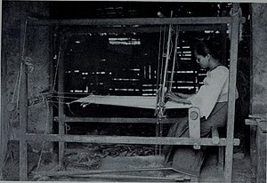 Art of the Philippines - A Filipino loom for weaving rough fabrics of abaka fiber, 1905