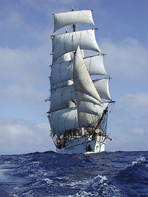 Picton Castle (ship) - Picton Castle under full sail
