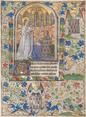 Pierre II de Bretagne en prière devant la Vierge à l'Enfant.png