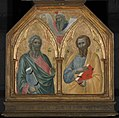 Pietro Lorenzetti - The Apostles Saint Andrew and Saint James the Lesser, with a Prophet - 1959.15.1a-c - Yale University Art Gallery.jpg