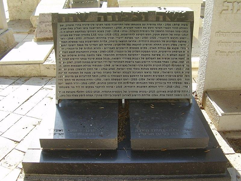 קבר משה וצפורה שרת בתל אביב