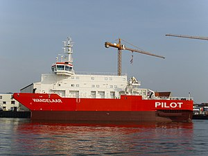 English: The pilot vessel Wandelaar will be de...