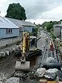 Pipelaying in the Afon Brennig, Tregaron, Ceredigion - geograph.org.uk - 1436356.jpg