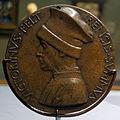 Pisanello, medaglia di vittorino da feltre, 1447 ca., recto.JPG