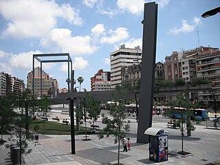 square in Barcelona, Spain