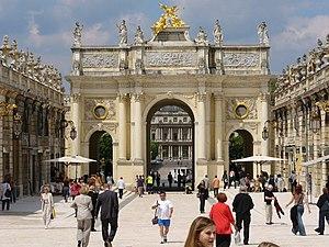 Arc Héré, place de la Carrière and palais du G...