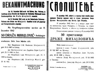 Chetnik sabotage of Axis communication lines