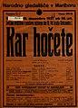 Plakat za predstavo Kar hočete v Narodnem gledališču v Mariboru 16. decembra 1927.jpg