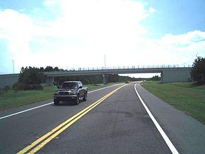 Florida State Road 23 - Bridge carrying Plantation Oaks Boulevard over the future expressway in OakLeaf Plantation, built 2010