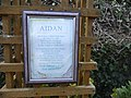 Plaque about St Aidan, Gospel Gardens, Holy Island - geograph.org.uk - 1239886.jpg