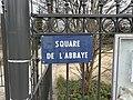 Plaque square Abbaye St Maur Fossés 1.jpg