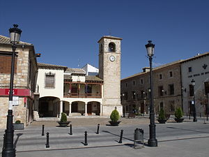 Plaza Mayor Mota del Cuervo..JPG